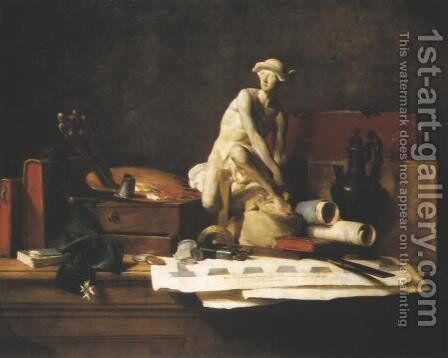 Attributes and Rewards of the Arts by Jean-Baptiste-Simeon Chardin - Reproduction Oil Painting