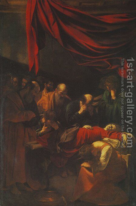 Death of the Virgin by Caravaggio - Reproduction Oil Painting
