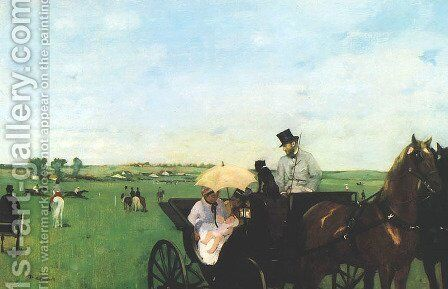 Carriage at the Races by Edgar Degas - Reproduction Oil Painting