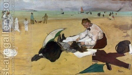At the Seaside by Edgar Degas - Reproduction Oil Painting