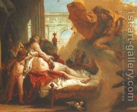 Jupiter Appearing to Danae (Giove appare to Danae) by Giovanni Battista Tiepolo - Reproduction Oil Painting