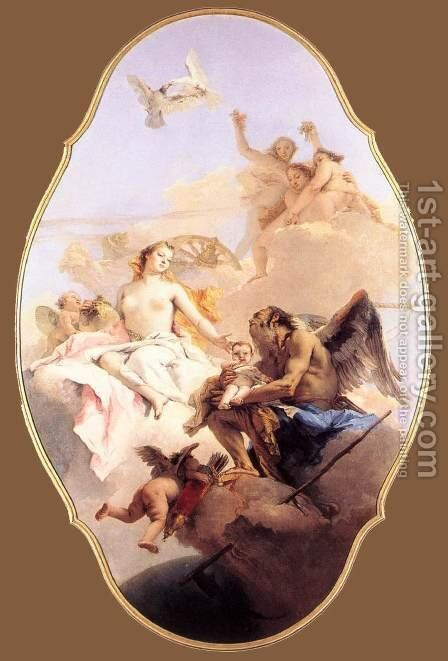 Allegory with Venus and Time by Giovanni Battista Tiepolo - Reproduction Oil Painting
