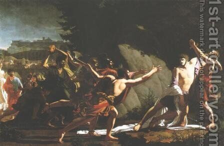 Death of Caius Gracchus by Jean-Baptiste Topino-Lebrun - Reproduction Oil Painting