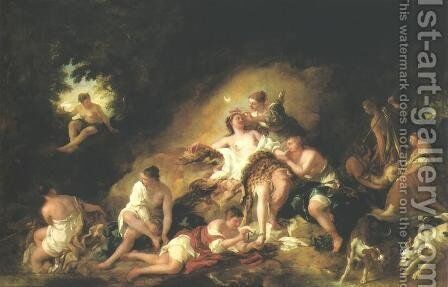 Diana at Rest by Jean François de Troy - Reproduction Oil Painting