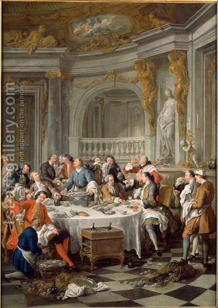 Lunch of Oysters by Jean François de Troy - Reproduction Oil Painting