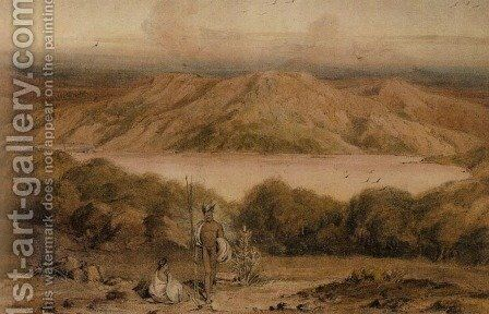 View of King George's Sound by William Westall - Reproduction Oil Painting