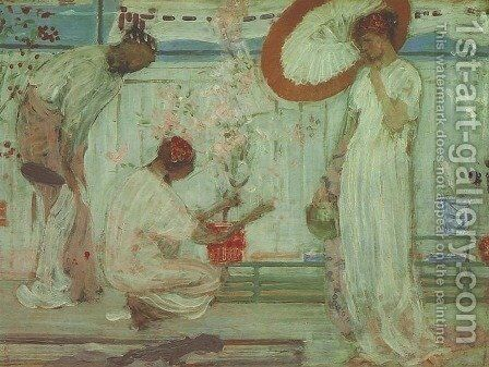 White Symphony: Three Girls by James Abbott McNeill Whistler - Reproduction Oil Painting