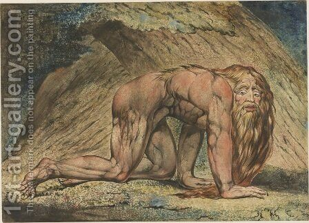 Nabuchodonosor by William Blake - Reproduction Oil Painting