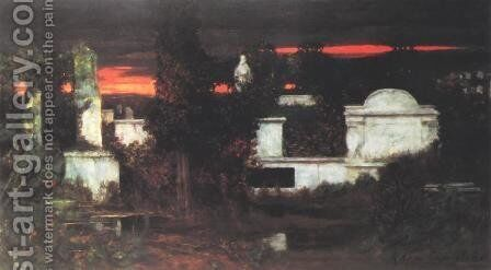 Italian Cemetery by Adam Chmielowski - Reproduction Oil Painting