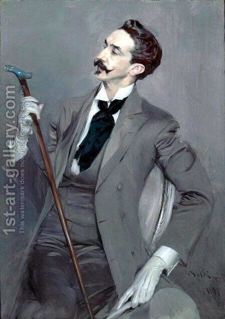 Count Robert de Montesquiou 1897 by Giovanni Boldini - Reproduction Oil Painting