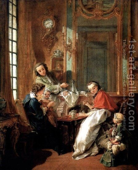 Breakfast by François Boucher - Reproduction Oil Painting