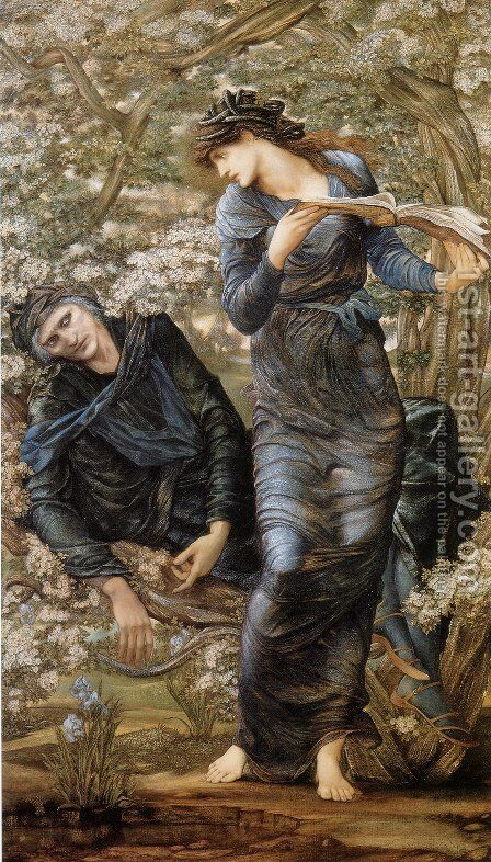 Beguiling of Merlin by Sir Edward Coley Burne-Jones - Reproduction Oil Painting