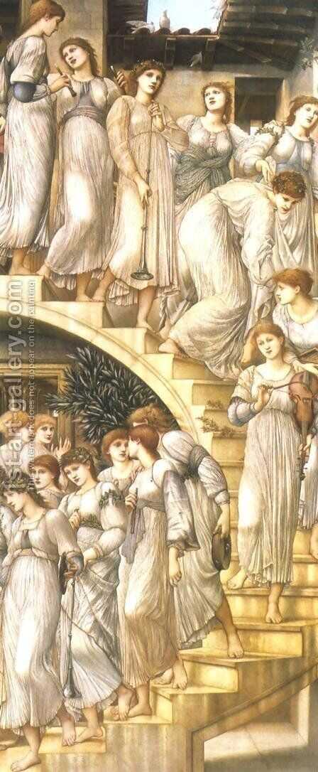 Golden Stairs by Sir Edward Coley Burne-Jones - Reproduction Oil Painting