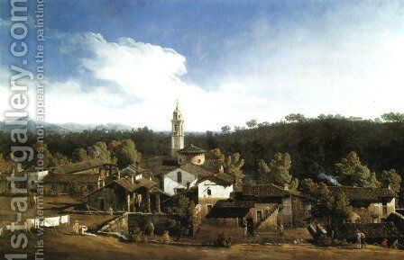 View of the Gazzada by Bernardo Bellotto (Canaletto) - Reproduction Oil Painting