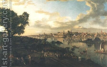 View of Warsaw by Bernardo Bellotto (Canaletto) - Reproduction Oil Painting