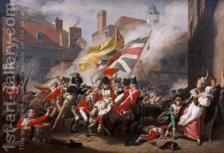 Death of Major Peirson by John Singleton Copley - Reproduction Oil Painting