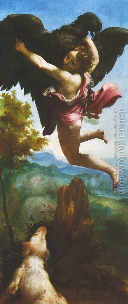 Abduction of Ganymede (Ratto di Ganimede) by Correggio (Antonio Allegri) - Reproduction Oil Painting