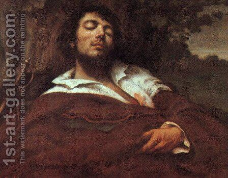 Wounded Man by Gustave Courbet - Reproduction Oil Painting