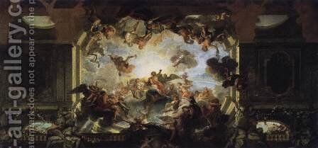 Venus Imploring Jupiter in Favour of Aeneas by Antoine Coypel - Reproduction Oil Painting