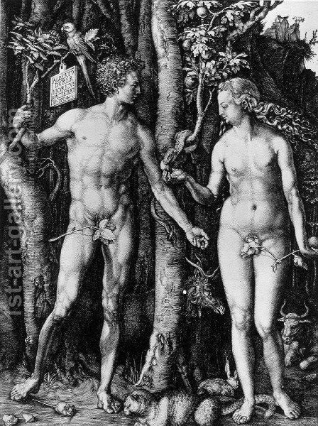 Adam and Eve (The Fall of Man) by Albrecht Durer - Reproduction Oil Painting