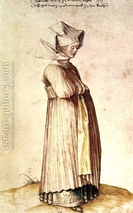 Nuremburg Woman Dressed for Church by Albrecht Durer - Reproduction Oil Painting