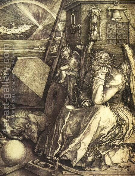 Melancholy I by Albrecht Durer - Reproduction Oil Painting