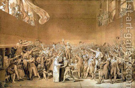 Tennis Court Oath by Jacques Louis David - Reproduction Oil Painting