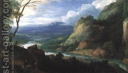 Great Landscape by Jacques Fouquieres - Reproduction Oil Painting