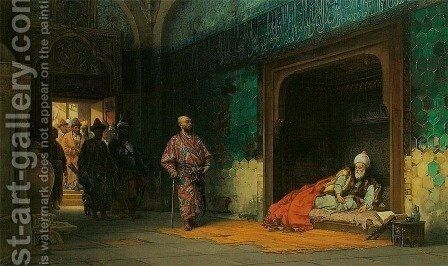Sultan Beyazid as a Prisoner of Tamerlane (Timur) by Stanislaus von Chlebowski - Reproduction Oil Painting