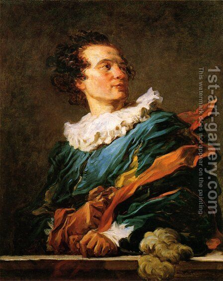 Portrait of Abbe de Saint-Non by Jean-Honore Fragonard - Reproduction Oil Painting