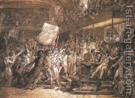 French People Demanding the Tyrant's Deposition on the 10th of August by Baron Francois Gerard - Reproduction Oil Painting