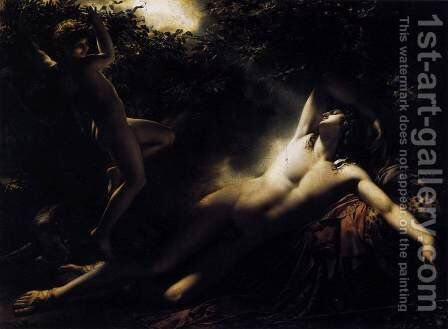 Endymion. Moonlight Effect by Anne-Louis Girodet de Roucy-Triosson - Reproduction Oil Painting