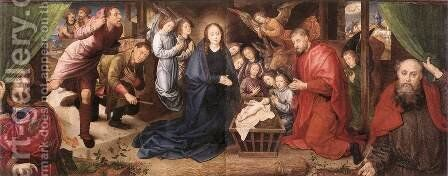 Adoration of the Shepherds by Hugo Van Der Goes - Reproduction Oil Painting