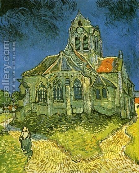 Church at Auvers by Vincent Van Gogh - Reproduction Oil Painting