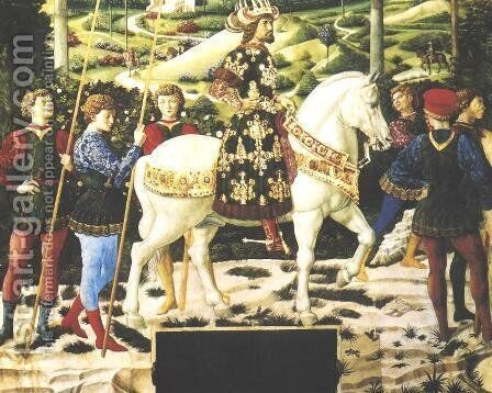 Journey of the Magi by Benozzo di Lese di Sandro Gozzoli - Reproduction Oil Painting