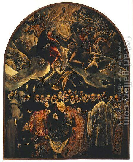 Burial of Count Orgaz by El Greco - Reproduction Oil Painting