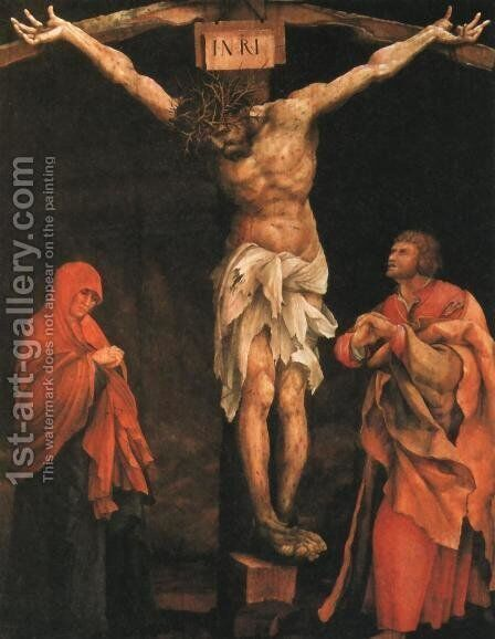 Crucifixion by Matthias Grunewald (Mathis Gothardt) - Reproduction Oil Painting