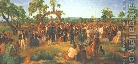 Proclamation of South Australia 1836 by Charles Hill - Reproduction Oil Painting