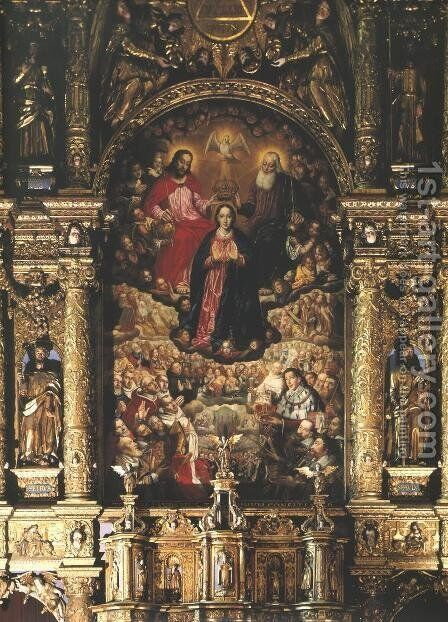 Coronation of the Virgin Mary by Herman Han - Reproduction Oil Painting