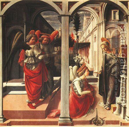 Annunciation (Annunciazione) by Fra Filippo Lippi - Reproduction Oil Painting