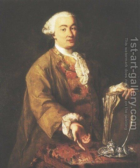 Portrait of Carlo Goldoni by Alessandro Longhi - Reproduction Oil Painting