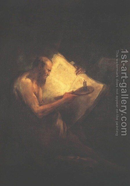 Philosopher Pythagoras by Pietro Falca (see Longhi) - Reproduction Oil Painting