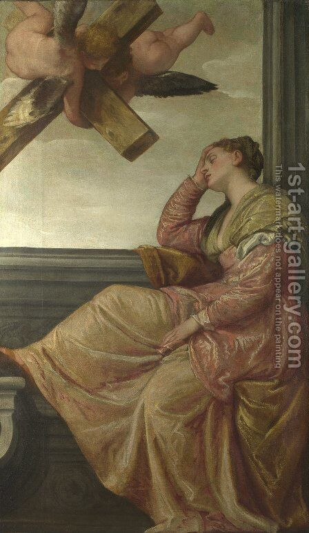 St. Helena: Vision of the Cross (Sogno di sant'Elena) by Paolo Veronese (Caliari) - Reproduction Oil Painting