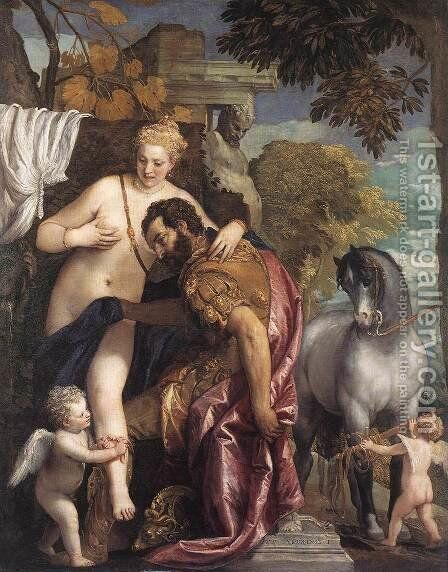 Mars and Venus (Marte e Venere incatenati da Amore) by Paolo Veronese (Caliari) - Reproduction Oil Painting