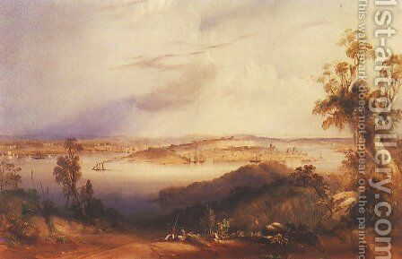 View of Sydney from North Shore by Conrad Martens - Reproduction Oil Painting