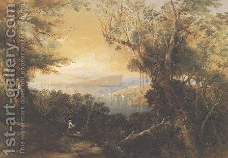 North Head, Sydney Harbour by Conrad Martens - Reproduction Oil Painting