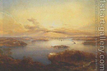 Sydney from Vaucluse by Conrad Martens - Reproduction Oil Painting
