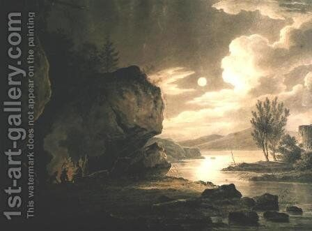 Landscape with Water in Moonlight by Aleksander Orlowski - Reproduction Oil Painting