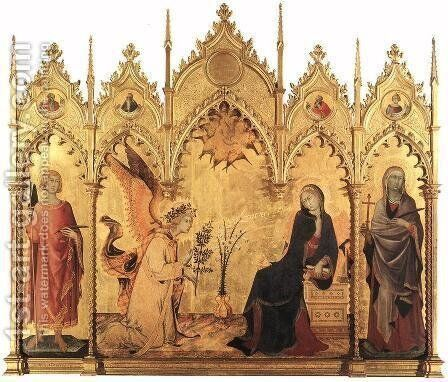 Annunciation by Simone Martini - Reproduction Oil Painting