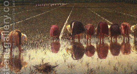 For 80 cents? by Angelo Morbelli - Reproduction Oil Painting